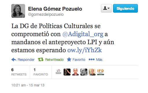 tweet elena gomez de pozuelo